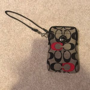 COACH cellphone wristlet
